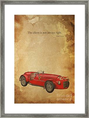 Ferrari 166s Framed Print by Pablo Franchi
