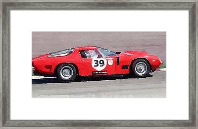 Ferrari 250 Gtb Swb Bizzarrini Watercolor Framed Print