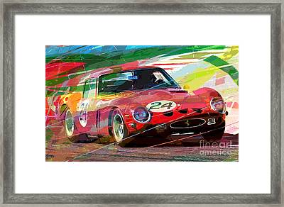 Ferrari 250 Gto Vintage Racing Framed Print by David Lloyd Glover