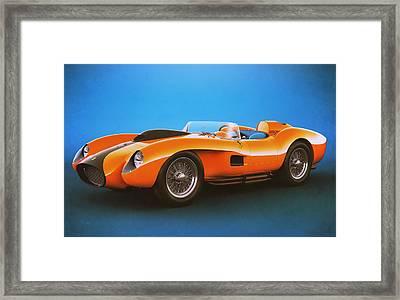 Ferrari 250 Testa Rossa - Vintage Racing Framed Print by Marc Orphanos