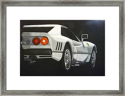 Framed Print featuring the painting Ferrari 288 Gto by Richard Le Page
