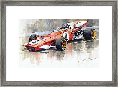 1971 Ferrari 312 B2 1971 Monaco Gp F1 Jacky Ickx Framed Print