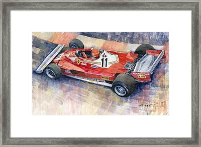 Ferrari 312 T2 Niki Lauda 1977 Monaco Gp Framed Print by Yuriy  Shevchuk