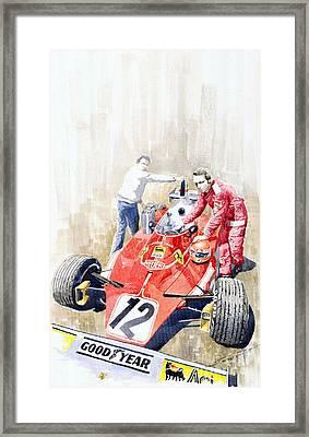 Ferrari 312t Monaco Gp 1975 Niki Lauda Winner Framed Print