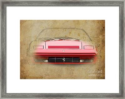 Ferrari 328 Gts Framed Print by Pablo Franchi