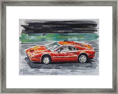 Ferrari 328 Framed Print by Ildus Galimzyanov