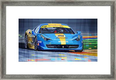 Ferrari 458 Challenge Team Ukraine 2012 Framed Print by Yuriy  Shevchuk