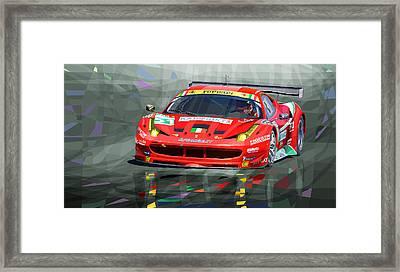 2012 Ferrari 458 Gtc Af Corse Framed Print