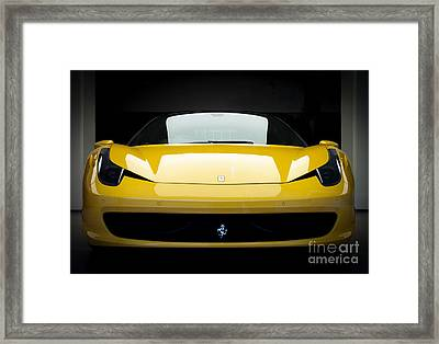 Ferrari 458 Framed Print by Matt Malloy