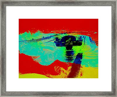 Ferrari 512 On Race Track 2 Framed Print by Naxart Studio