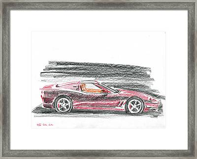 Ferrari 550 Framed Print by Ildus Galimzyanov
