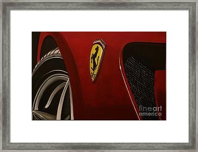 Ferrari 599 Gtb Fiorano Framed Print by Richard John Holden RA