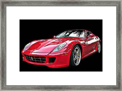 Ferrari 599 Gtb Fiorano Framed Print by Samuel Sheats