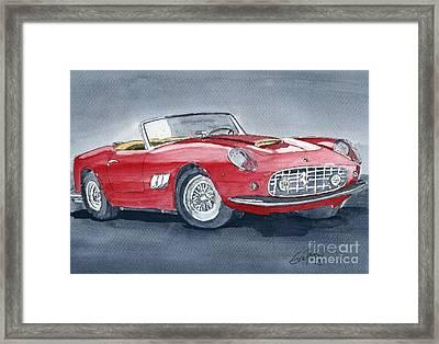 Ferrari 62   250 Gt Framed Print