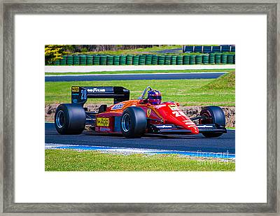 Ferrari At Phillip Island Framed Print