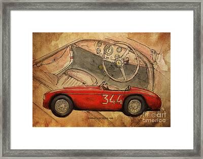 Ferrari Barchetta Framed Print by Pablo Franchi