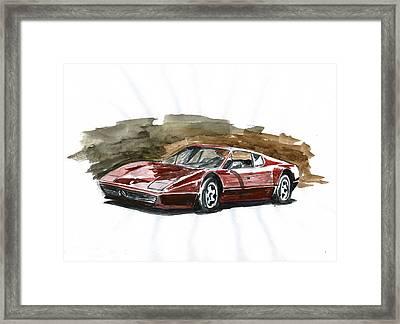 Ferrari Bb 512 Framed Print by Ildus Galimzyanov