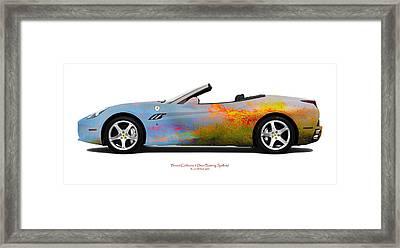 Ferrari California Burning Sealand Framed Print by Jan W Faul