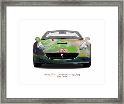 Ferrari California Carlsberg Esbjerg Framed Print by Jan W Faul