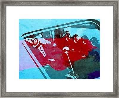 Ferrari Cockpit Framed Print by Naxart Studio