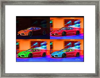 Framed Print featuring the photograph Ferrari Collage by Gunter Nezhoda