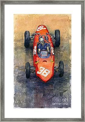 Ferrari Dino 156 1962 Monaco Gp Framed Print by Yuriy Shevchuk