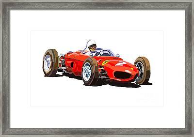 Ferrari Dino 156 1962  Framed Print by Yuriy  Shevchuk
