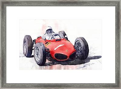 Ferrari Dino 156 F1 1961  Framed Print by Yuriy  Shevchuk