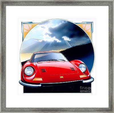 Ferrari Dino Framed Print by Gavin Macloud