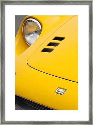 Ferrari Dino Hood Emblem 2 Framed Print