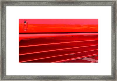 Framed Print featuring the photograph Ferrari Exotic Sports Car Side by Jeff Lowe