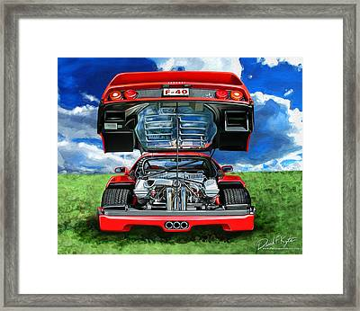 Ferrari F-40 Framed Print by David Kyte