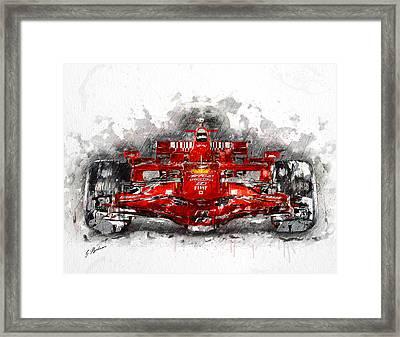 Ferrari F1 Framed Print by Gary Bodnar