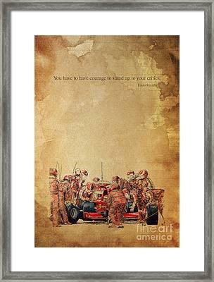 Ferrari F1 Pits Framed Print