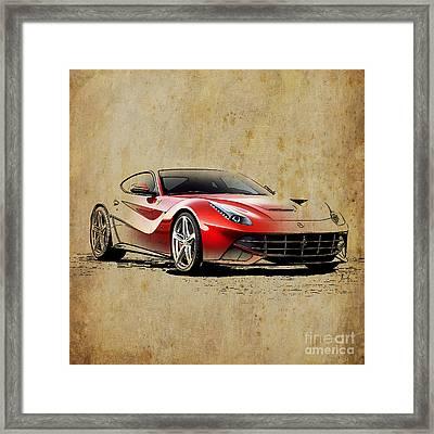 Ferrari F12 Framed Print by Pablo Franchi