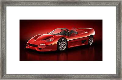Ferrari F50 - Flare Framed Print by Marc Orphanos