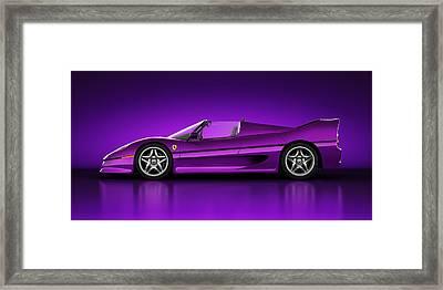 Ferrari F50 - Neon Framed Print by Marc Orphanos
