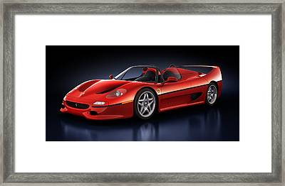Ferrari F50 - Phantasm Framed Print by Marc Orphanos