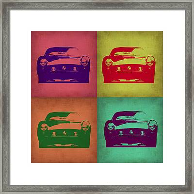 Ferrari Front Pop Art 1 Framed Print by Naxart Studio