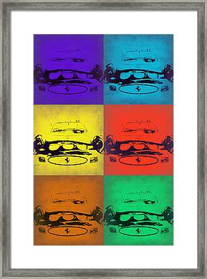 Ferrari Front Pop Art 5 Framed Print by Naxart Studio