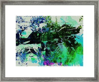 Ferrari Grand Prix Pit Framed Print by Naxart Studio