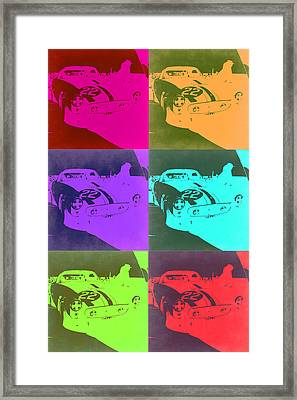 Ferrari Gto Pop Art 3 Framed Print by Naxart Studio