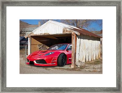 Framed Print featuring the photograph Ferrari by Gunter Nezhoda