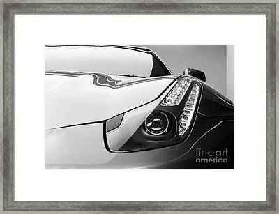 Ferrari Headlight Framed Print by Matt Malloy