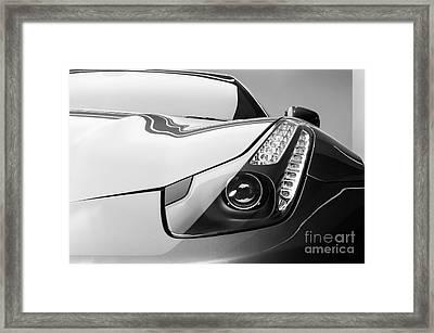 Ferrari Headlight Framed Print
