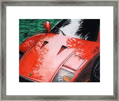 Ferrari In Red Framed Print