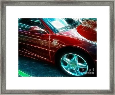 Ferrari In Red Framed Print by Paul Ward
