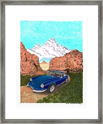1969 Ferrari 365 G T C In The Mountains 1969 365 G T C Framed Print by Jack Pumphrey
