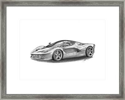 Ferrari Laferrari Framed Print by Gabor Vida