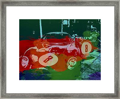 Ferrari Laguna Seca Racing Framed Print by Naxart Studio